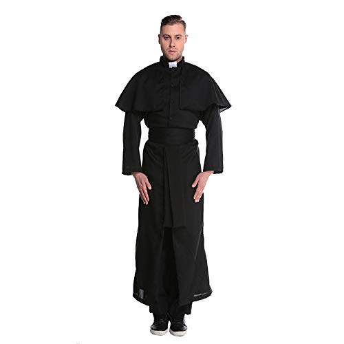 - Fly Halloween Costume Cos Jesus Christ Male Missionary Minister Pastor Nun Costume M-XL,L