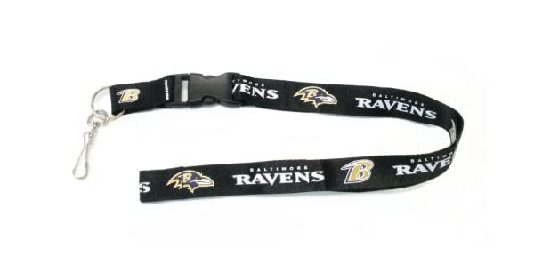 Amazon.com: NFL Baltimore Ravens Lanyard, negro: Sports ...