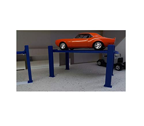4 Post DIY Diecast Hobby Vehicle Toys Model car Lift 1/24 1/25 Scale Diorama Quick Arrive