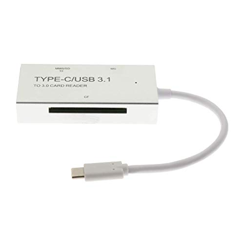 Price comparison product image nouler Juler USB C Type C to Memory 3.0 Reader Adapter for Apple MacBook Pro - (Silver)