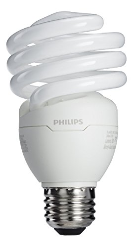 Philips 417097 Energy Saver 23-Watt 100W Soft White CFL Light Bulb, 4-Pack - 23w Cfl