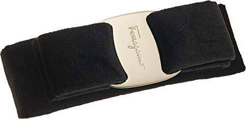 Salvatore Ferragamo Women's Velvet Barrette, Black, One Size