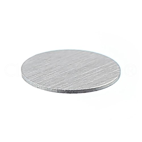 """25 Pack - CleverDelights 1/2"""" Round Stamping Blanks - 22 Gauge (.025"""") Aluminum - Circle Discs Tags"""
