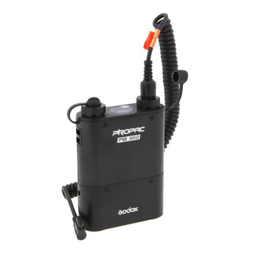 Godox Flash Power Pack PB-960 Black with Cable for Canon 600EX, 580EX, 580EXII, 540EZ, 550EZ and other flash