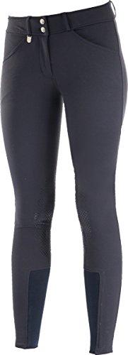 Horze Grand Prix Women's Silicone Knee Patch Breeches Peacoat Dark Blue (Grand Prix Riding Coat)