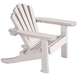 2 Timeless Wedding Miniature Furniture Mini White Adirondack Chair