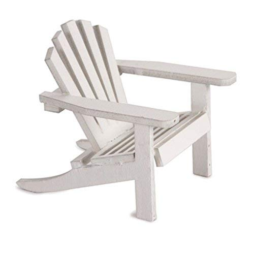 2 Timeless Wedding Miniature Furniture Mini White Adirondack for sale  Delivered anywhere in USA