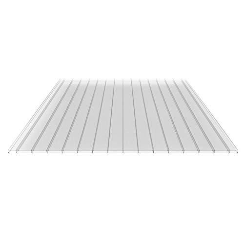 Nord-Industriegummi - Placa de Puente Radversender placa | Puente de doble placa, vidrio de material acrílico | ancho 980 mm (grosor cámaras, color Cristal ...