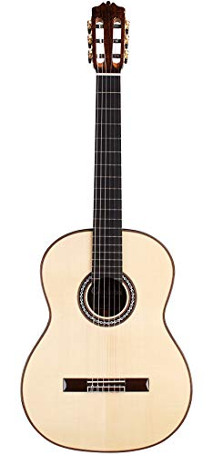 Cordoba C10 SP Spruce Top All Solid Wood Acoustic Nylon String Classical Guitar with Case, Classical Strap, Polishing Cloth, and Classical Capo