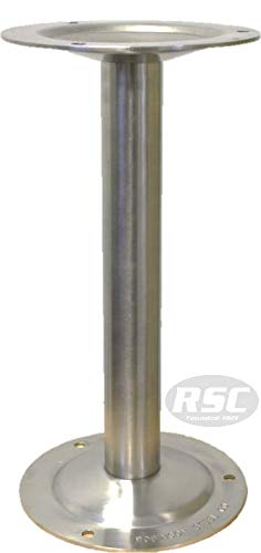 304 Stainless Steel Bench Pedestal - 16.25'' High by Robinson Steel Co.