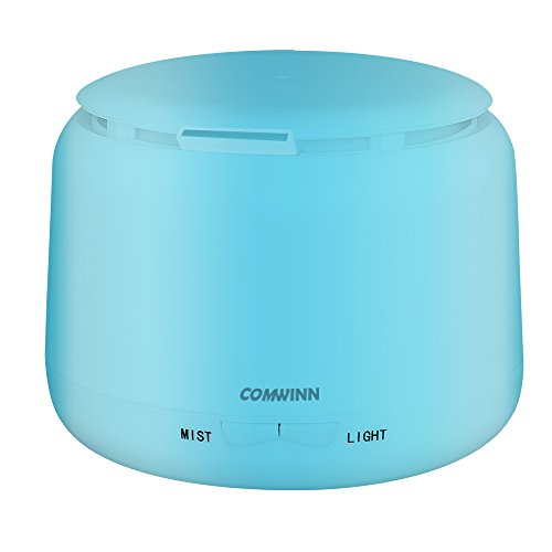 [2nd Generation] 300ml Aromatherapy Essential Oil Diffuser,Comwinn Humidifier with 4 Timer Settings, 7 LED Color Changing Lamps and Waterless Auto Shut-off