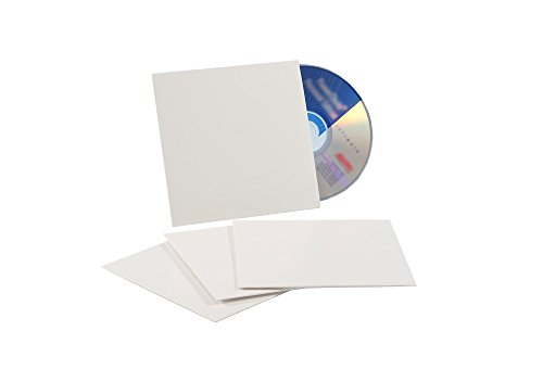 """5-1/8"""" x 5-1/8"""" CD White Paperboard Sleeve, 200 per case"""