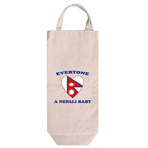 Nepali Cotton - Everyone Loves Nepali Cotton Canvas Wine Bag Tote With Handles Wine Bag