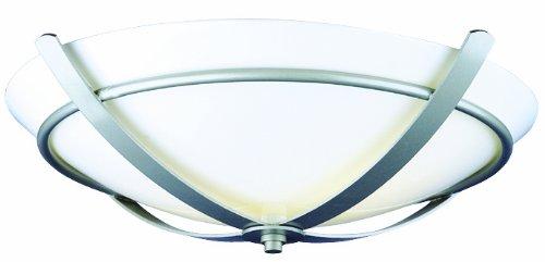 Glacier Silver Flush - Philips Forecast F200012U Regency Ceiling Light, Glacier Silver