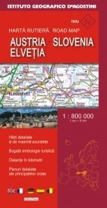 Harta Rutiera Austria Slovenia Elvetia Scara 1 800 000