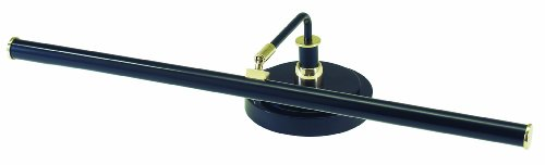 House of Troy PLED101-617 Upright Piano Led Lamp in Black with Polished Brass Accents, 19