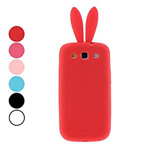 Bunny Pattern Protective Soft TPU Case for Samsung Galaxy S3 I9300 (Assorted Colors) --- COLOR:White