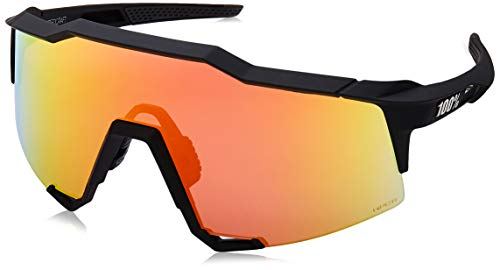100% Unisex-Adult Speedlab (61001-100-43) Speedcraft-Soft Tact Black-HiPER Red Multilayer Mirror Lens, Free ()