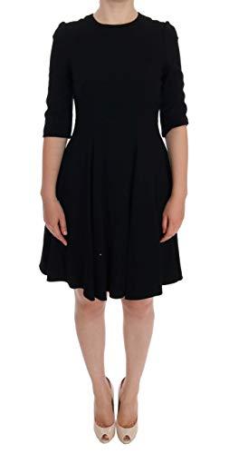 Dolce & Gabbana Black Viscose Shift Dress