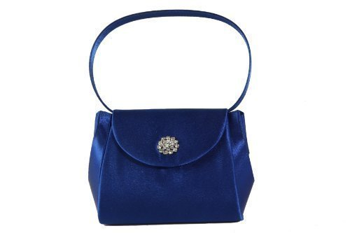 blue handle bag satin brooch flap and satin diamante on Royal mini with handbag occasion pqTWd8Uw