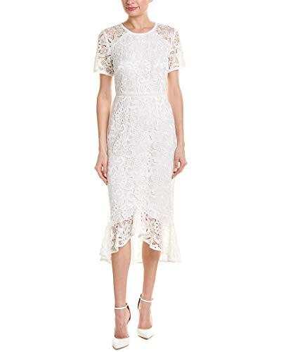 Shoshanna Women's Edgecombe High Low Dress, Ivory, 2