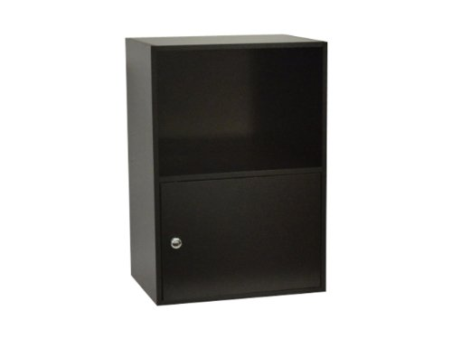 Convenience Concepts Designs2Go X-Tra Storage 1-Door Cabinet, Black