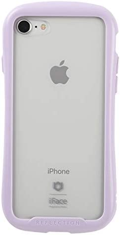 iFace Reflection Pastel iPhone SE 2020 第2世代/8/7 ケース クリア 強化ガラス [パープル]