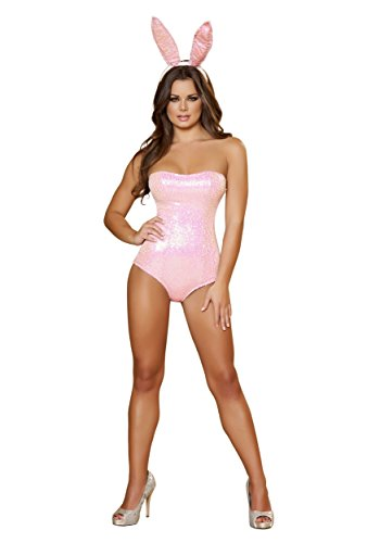 Bunny Babe Adult Costume Pink - Small ()