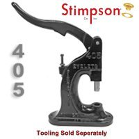 Stimpson Press Machine for Grommets Reliable, Durable, Heavy-Duty (Model 405)