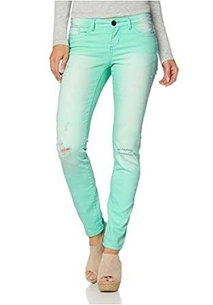 AJC Hose Skinny Jeans Damen Kurzgröße Destroyed Sommerhose