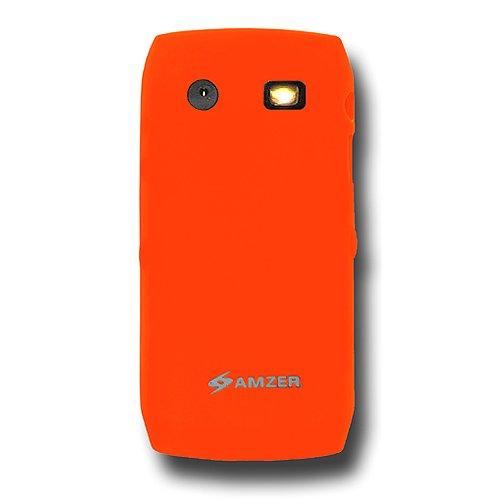 Amzer Silicone Skin Jelly Case for BlackBerry Pearl 9100/9105 - Orange