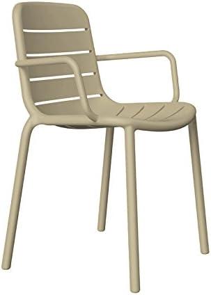resol grupo Gina Set de 2 sillas con brazos de diseño para interior, exterior, jardín, Arena, 52 x 56, 9 x 80, 5 cm: Amazon.es: Jardín