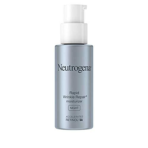 Neutrogena Rapid Wrinkle Repair Anti-Wrinkle Night Accelerated Retinol SA Facial Moisturizer, 1 fl. Oz (.3 Pack)