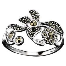 Avon Marcasite Ring (Avon Sterling Silver Marcasite Flowers Ring - Size 6)