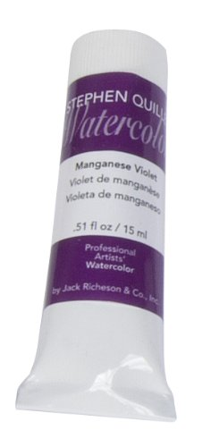 Stephen Quiller Watercolor - Jack Richeson Stephen Quiller 15-Ml Watercolor Tube, Manganese Violet