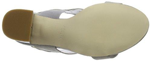 New Look Purdy, Sandalias de Punta Descubierta para Mujer Gris (Mid Grey)