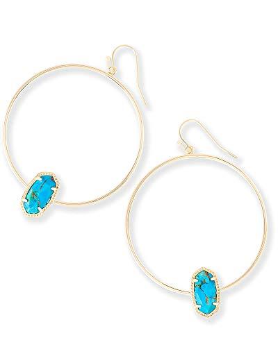 Kendra Scott Womens Elora Earring Gold/Bronze Veined Turquoise One Size ()