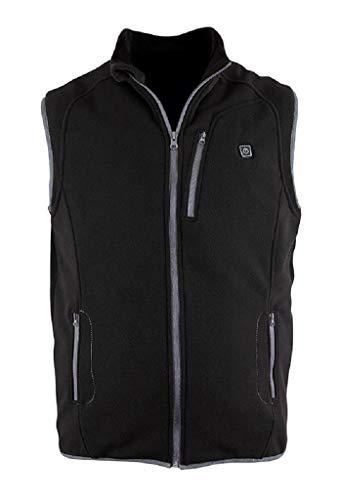 Prosmart Heated Vest Polar Fleece Lightweight Waistcoat with USB Battery Pack Unisex,Black