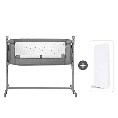 YRR 2in1 Stationary&Rock Mode Bassinet One-Second Fold Travel Crib Portable Newborn Baby,Gray