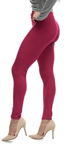 (Lush Moda Extra Soft Leggings - Variety of Colors (Magenta))
