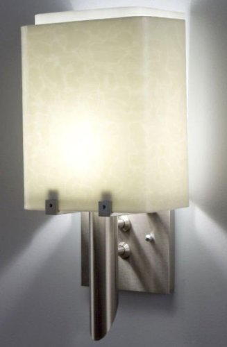 (WPT Design Dessy1/8-S-WH Dessy 1/8 - SS - Incandescent - Single Glass- White 1 Wall Light)