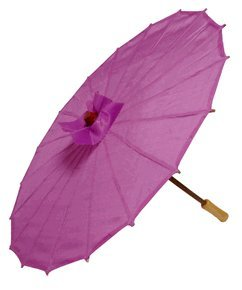 Just Artifacts Brand – 21″ Silk Parasol Chinese/Japanese Umbrella – Color Purple
