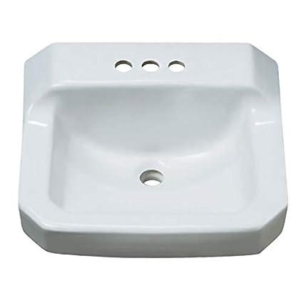 Proflo Pf5414wh 19 7 8 Wall Mounted Rectangular Bathroom Sink 3
