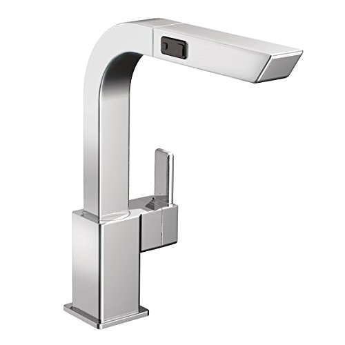 Moen S7597C 90-Degree One-Handle High-Arc Pullout Kitchen Faucet, Chrome