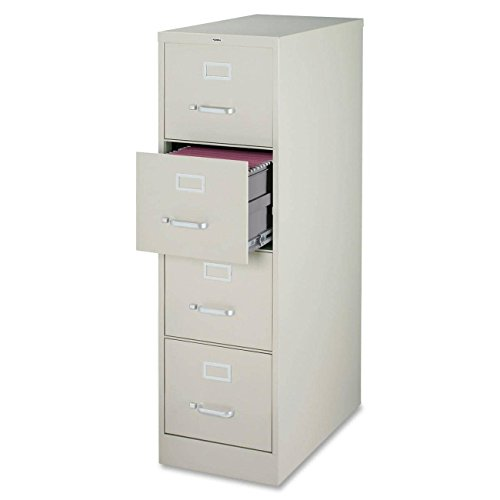 Light Gray Vertical 4 Drawer (Lorell 4-Drawer Vertical File, 15 by 22 by 52, Light Gray)