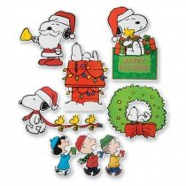 Peanuts Christmas Cut Outs Large 6 pieces.
