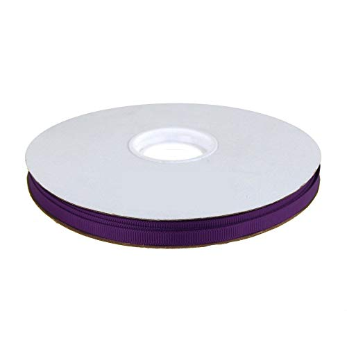 1/4 Inch Wide Grosgrain Ribbon - 50 Yard Spool (Plum Purple) ()