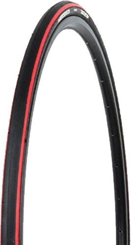 (Hutchinson Equinox 2 700x23 Road Bike Tire Wire Clincher Black/Red)