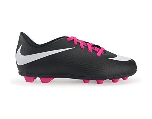 Nike Junior Bravata Fast Malet Fotboll Cleat Svart / Vit-wd Rosa Flsh