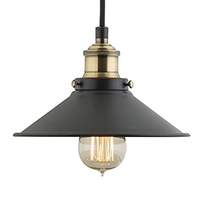 WinSoon 22cm MODERN VINTAGE INDUSTRIAL METAL BLACK RUSTIC BAR LOFT METAL PENDANT CEILING LIGHTS FIXTURES